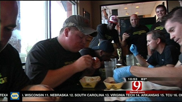 Santa Fe Wins Edlam Wing Eating Contest