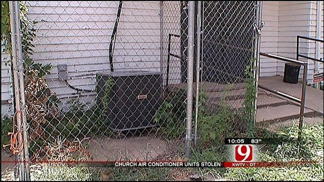A/C Thieves Strike Oklahoma City Church