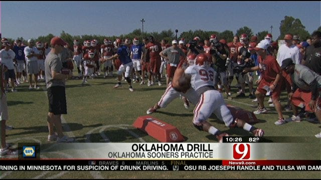 Sooners Go Full Pads With Oklahoma Drill