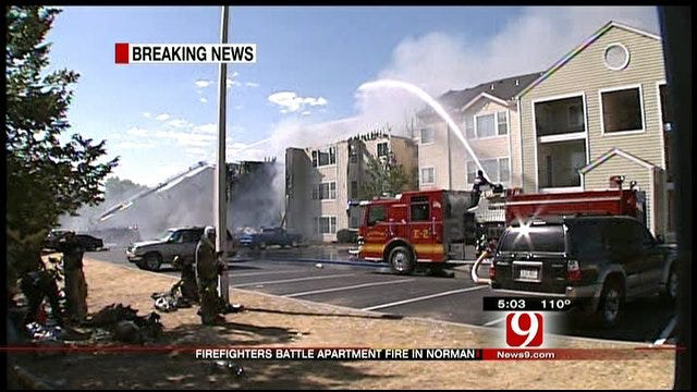 Apartment Fire Destroys Several Units In Norman