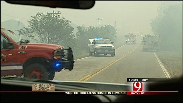 Edmond Wildfire Threatens Homes