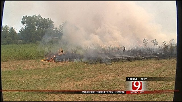 Firefighters Fought SE OKC Grassfire, Trailers And Barn Destroyed