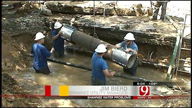 Crews Battle Water Main Breaks In Shawnee