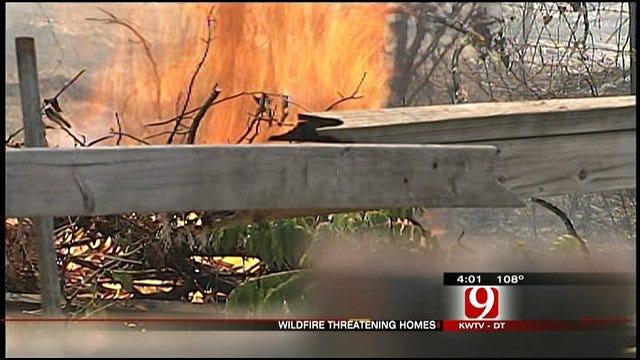 Firefighters Battle Massive Grassfire In Southeast OKC