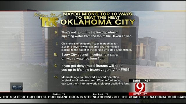 OKC Mayor Mick Cornett's Top Ten Ways To Beat The Heat