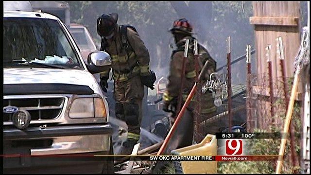 Firefighters Battle Fire, High Temps In SW OKC Fire