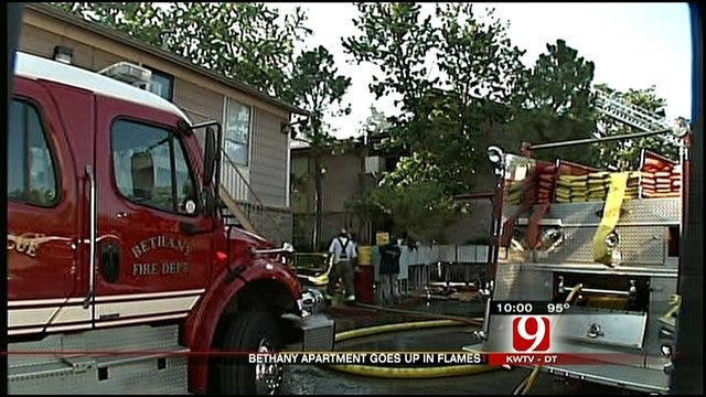 Bethany Apartments Go Up In Flames