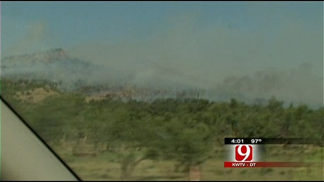 Crews Battle Wildfires Near Medicine Park
