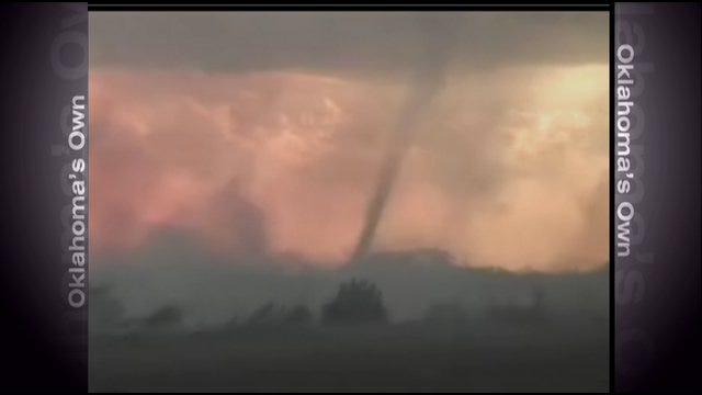 WEB EXTRA: Raw Video Of Camargo Wildfire, Fire Tornado