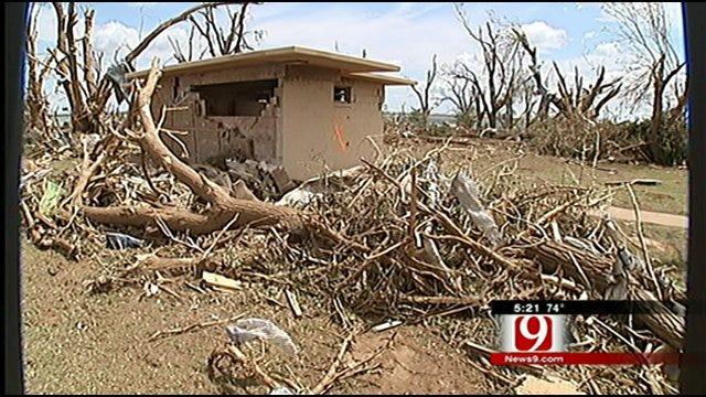 Family Hides In Concrete Bathroom During Canton Lake Tornado