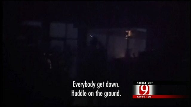 People Take Cover In Joplin Convenience Store During Tornado