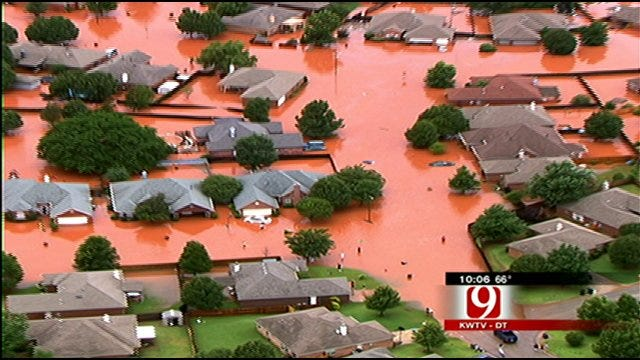 Creekside OKC Homeowners Worried Debris Could Cause Flooding