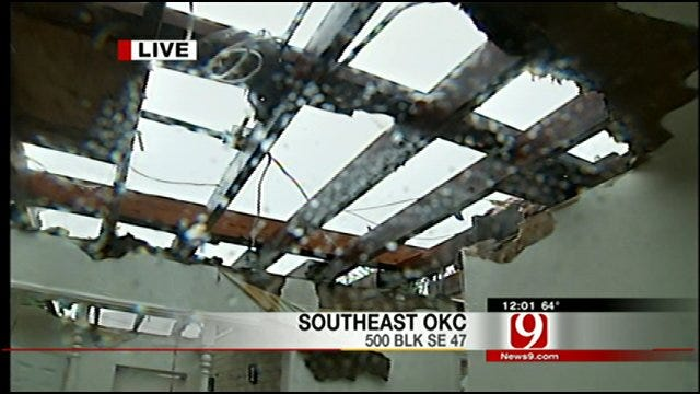 Storms Rip Roof From Home, Scatter Debris