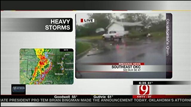 Southeast OKC Neighbors Wake Up To Storm Damage