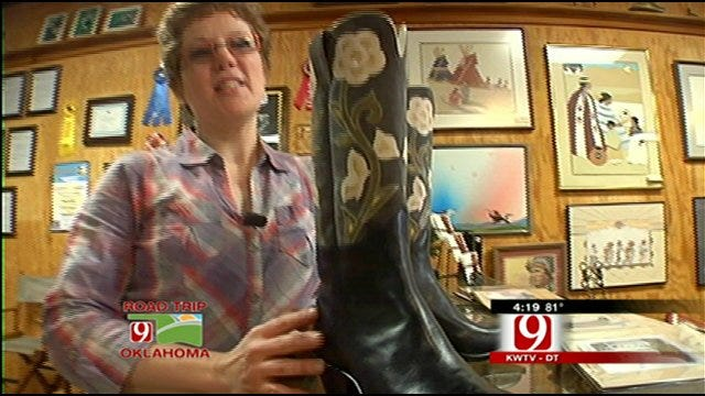 Guthrie Boot maker Creates Artistic Masterpieces