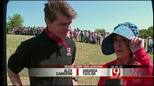 Alex And Amanda Participate In Guthrie Elementary Land Run