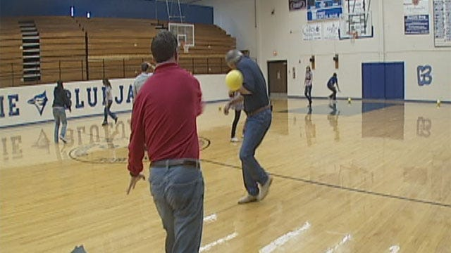 Stan And Jed Have Dodgeball Showdown At Guthrie High School