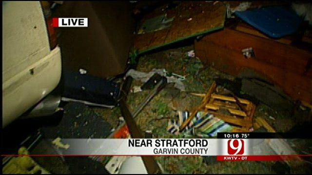 Tornado Hits Stratford, Byars Area In Garvin County