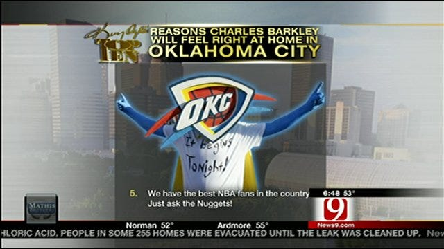 Top Ten Reasons Charles Barkley Should Come To OKC