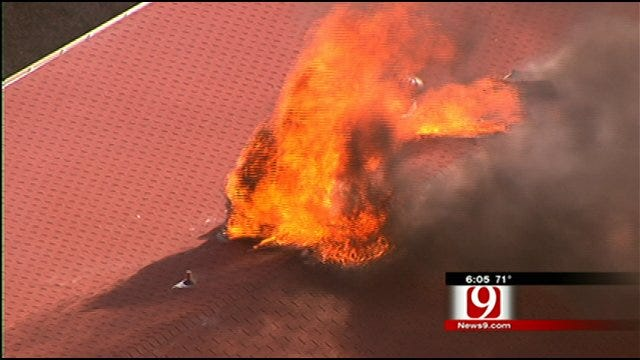 Fire Forces Several Families Out Of N.W. OKC Apartment