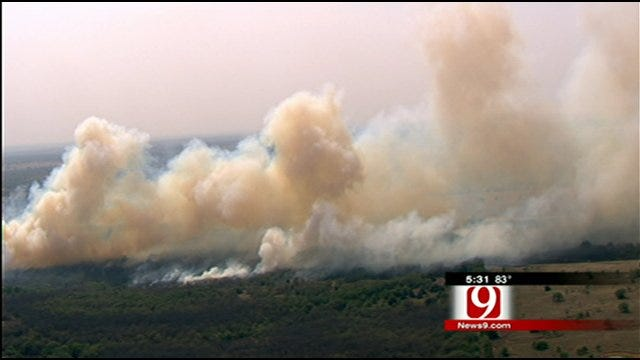 Wildfires Raging Through Central, Southern Oklahoma