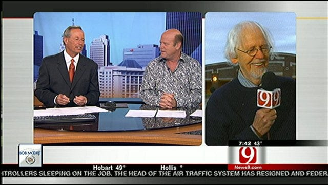 Rex Linn Sits In As Anchor On News 9 This Morning
