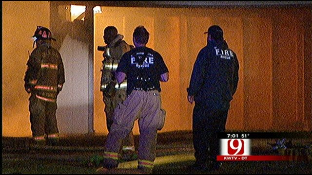 Oklahoma City Family Escapes Overnight House Fire