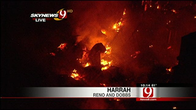 SkyNews 9 HD Flies Over Hot Spots In Harrah