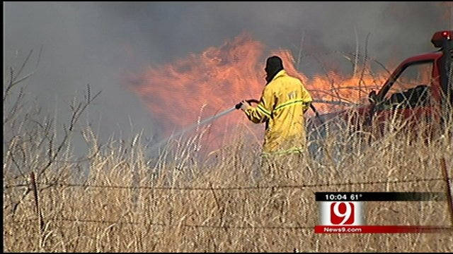 Homes, Barns Destroyed In Wildfires Near Goldsby