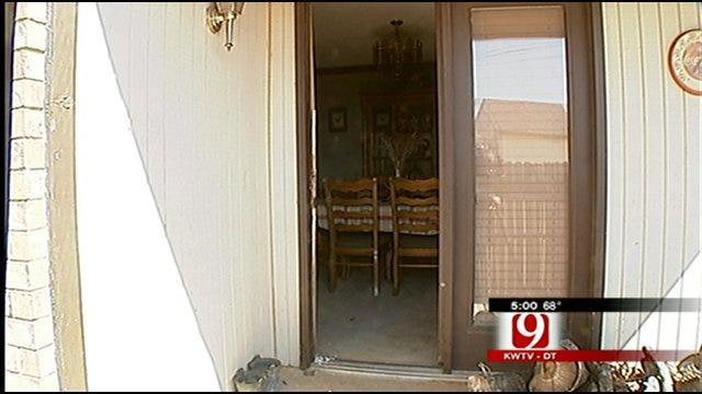 Frightened Girl In Home While Burglars Break-In