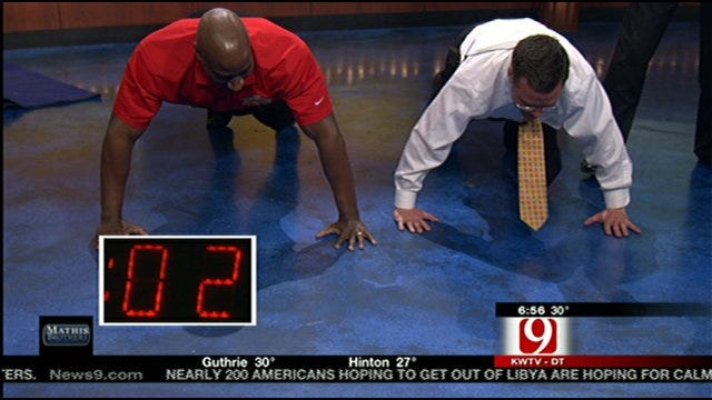 Jed Castles, Chris Brown Complete Pushup Challenge