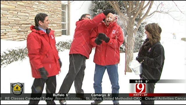 News 9 Team's Snowball Fight!