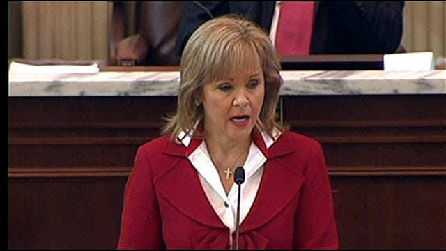 Gov. Fallin Talks About Needed Improvements In Oklahoma