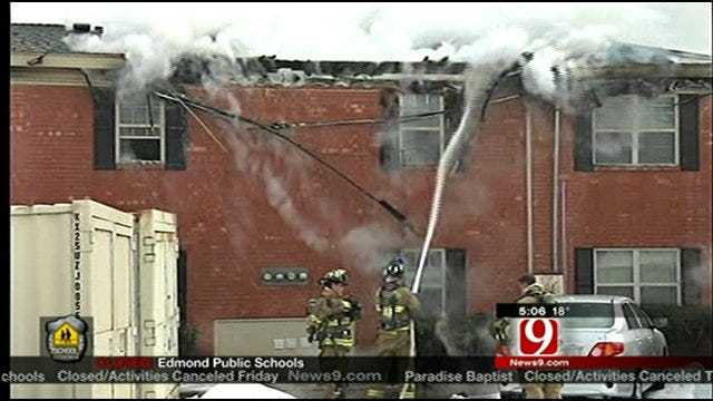 4 Apartments Damaged In Apparent Electrical Fire