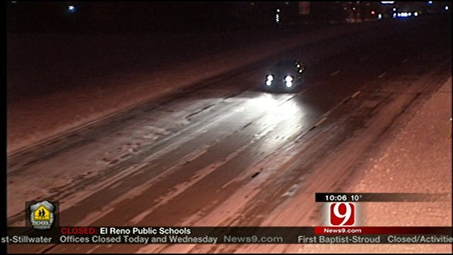 Roads, Including Snow Routes Remain Slick And Hazardous