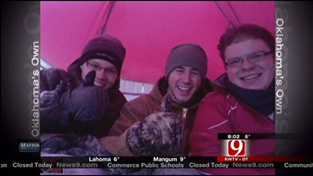 3 Norman College Students Brave The Cold, Camp Outside Overnight