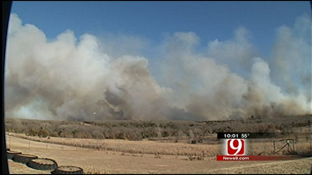Logan County Grassfire Burns Thousands Of Acres
