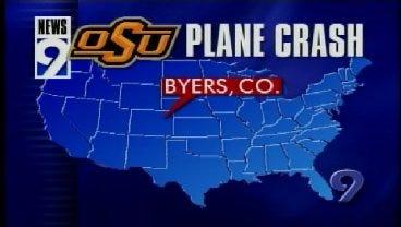 2001: News 9 Breaking News Coverage of OSU Plane Crash