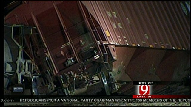 Crews Work To Clear Scene Of Derailed Train In Perry
