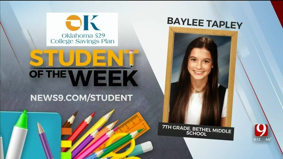 Student Of The Week: Baylee Tapley, 7th Grade, Bethel Middle School