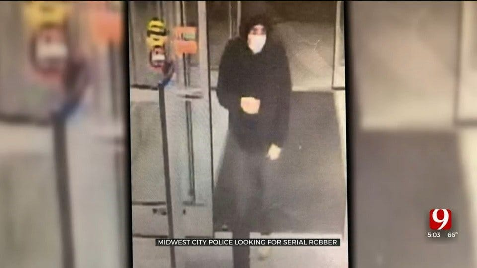 Midwest City Police Looking For Alleged Serial Robber