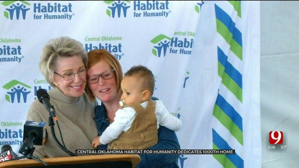 Central Oklahoma Habitat For Humanity Dedicates 1,000th Home