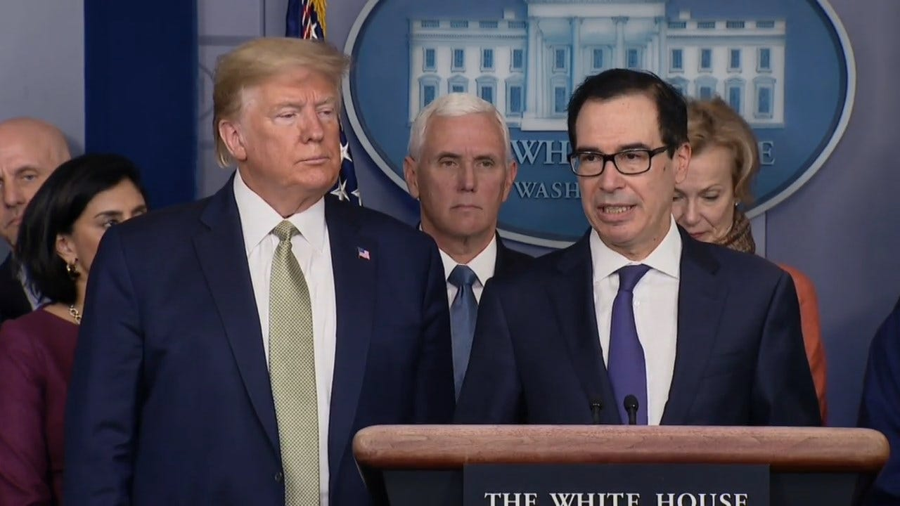Mnuchin: 'We Are Looking At Sending Checks To Americans Immediately'