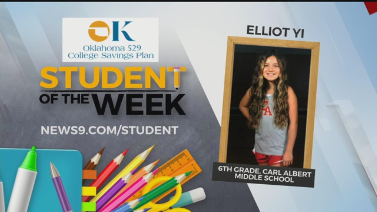 Student Of The Week: Elliot Yi, Carl Albert Middle School