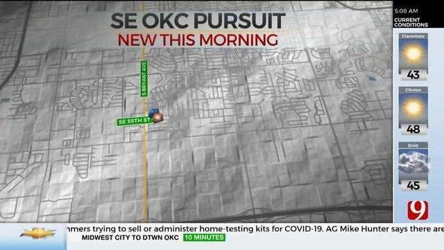 1 Arrested Following Overnight Pursuit In SE OKC