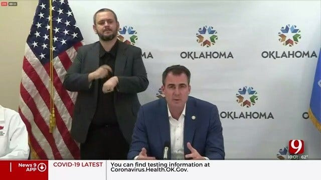 """Governor Stitt Extends """"Safer At Home"""" Executive Order To All 77 Counties"""