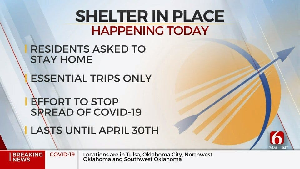 Broken Arrow Shelter In Place Order Begins Wednesday