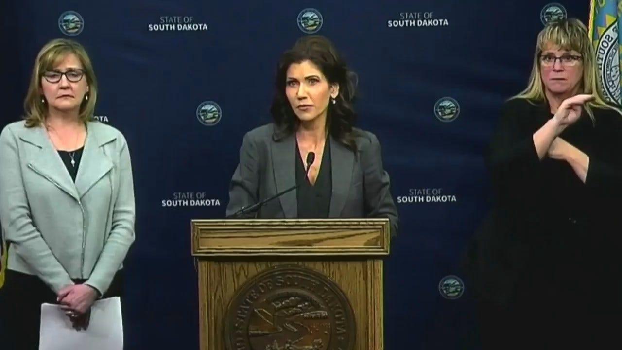 South Dakota Governor Shuns Stay-At-Home Order As Coronavirus (COVID-19) Cases Climb