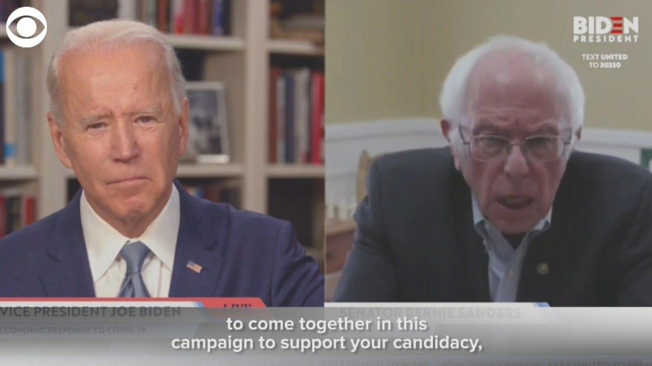 WATCH: Sen. Sanders Endorses Former VP Joe Biden For President