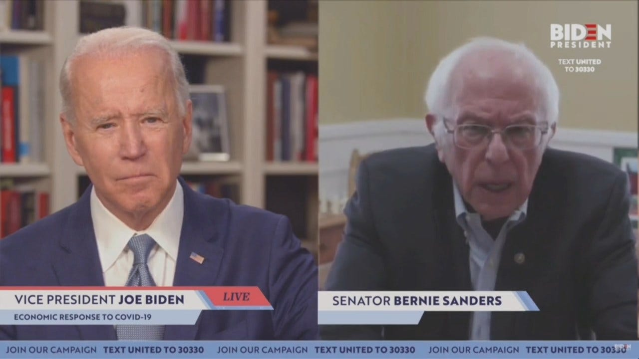 Sen. Bernie Sanders Endorses Former VP Joe Biden For President